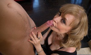 Mature slut Nina Hartley has some hardcore fun with a younger lad