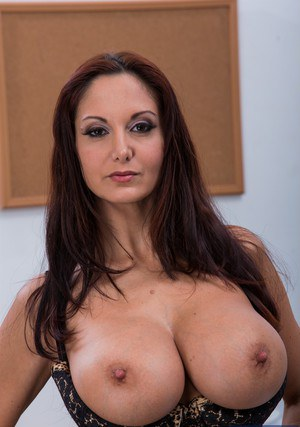 Hot teacher Ava Addams gets rid of her formal suit and reveals her big tits