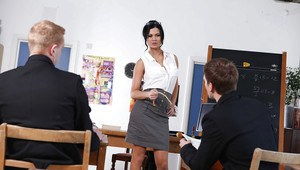 Lustful teacher Jasmine Jae gets shagged by her naughty student