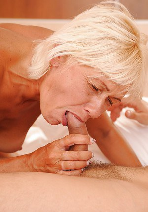 Cock starving granny with small tits gets shafted hardcore by a younger lad
