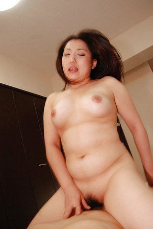 Curvy asian MILF Kaho Itou gives head and gets her hairy cunt cocked up