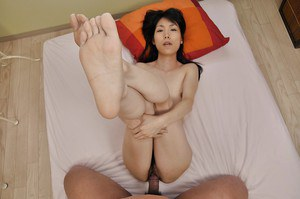 Asian MILF with hairy twat Yuko Mukai gobbles a hard cock and gets fucked