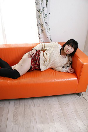 Nasty asian teen Kasumi Miyata getting naked and spreading her legs
