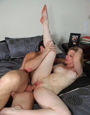 Horny lady fucks a big cock and takes a cumshot on her pretty face