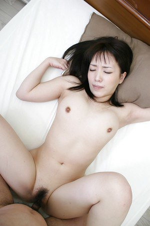 Asian sweetie Satsuki Ejiri has some pussy fingering and drilling fun