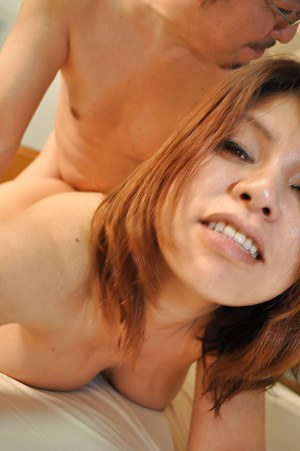 Bosomy asian MILF Seiko Kawamoto gives head and gets fucked tough