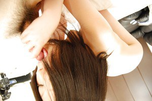Asian teen Riko Anzai gives head and gets her hairy gash boned-up