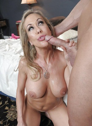 Brandi Love enjoys a big boner filling her eager mouth and hungry pussy
