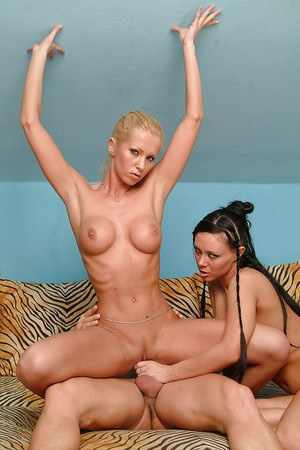Salacious MILFs with big tits have a threesome with a studly guy