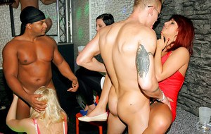 Lascivious amateurs getting naughty at the drunk CFNM party