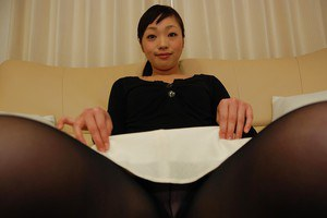 Shy asian MILF Tomomi Sone undressing and expposing her honey pot