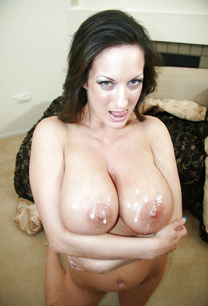 Stephanie Wylde fucks a rigid boner and gets her big tits glazed with cum