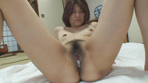 asian MILF Yoko Ikeda gets her hairy pussy pleased with toys and hard dick