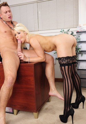Anikka Albrite gets seduced and fucked by her naughty office mate