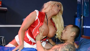 Gorgeous nurse Alura Jenson has some dirty fun with her patient
