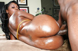 Curvy ebony lassie Barbie Banxx gobbles and fucks a huge black boner