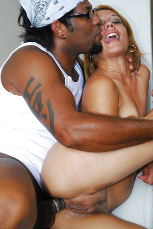 salacious sluts with tiny tits have a threesome with a hung black lad