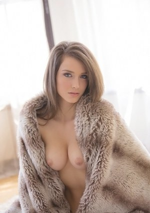 Adorable brunette babe Malena Morgan showcasing her flawless curves