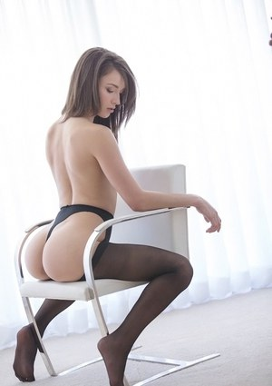 Amazingly sexy girls with nylon clad legs revealing their goods