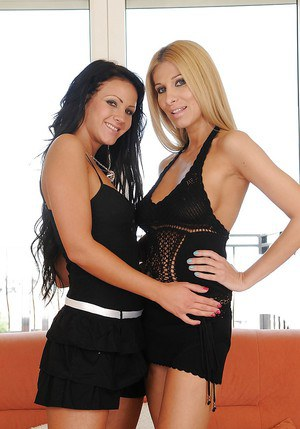 Naughty lesbians with luscious curves exploring pussy fisting pleasures