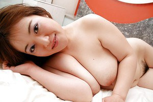Fatty asian gal Keiko Etou undressing and showcasing her unshaven gash