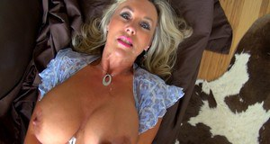 Sandra Otterson gets fucked for a gooey cumshot on her face and big tits