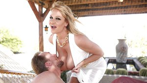 Top-heavy MILF Kelly Madison enjoys a passionate pussy plugging
