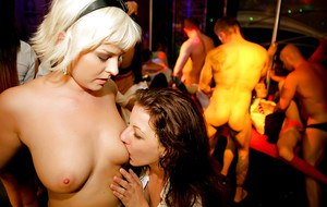 Lascivious european gals bring their mouths and pussies into party play