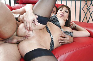 Lewd MILF Ava Devine has some anal fisting and fucking fun with a hung lad