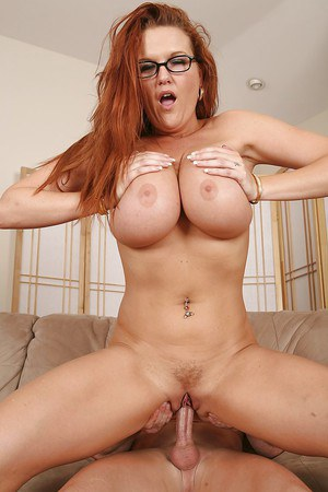 busty red heads with glasses