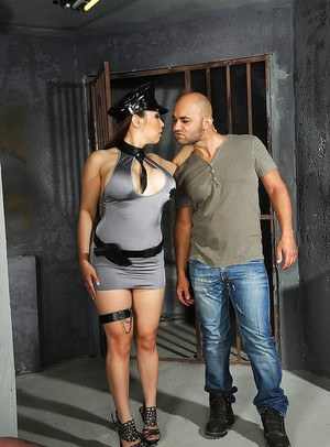 Big busted asian police lady gets fucked hardcore by a hung prisoner