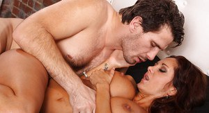 Ava Addams gets fucked and jizzed over her big tits and eager face