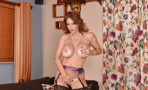 Hot MILF Charlee Chase gets rid of her dress clothes and sexy lingerie