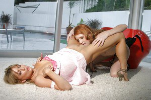 Rita Lovely & Mia Presley make some passionate lesbian action
