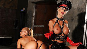 Salacious fetish bombshells make some rough and kinky lesbian action