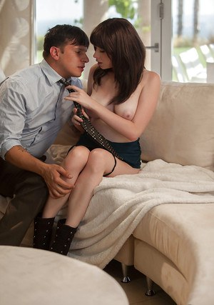 Stunning brunette hhas some pussy licking and fucking fun with a horny lad