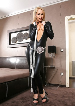 European vixen teases a lucky guy by changing provocative outfits