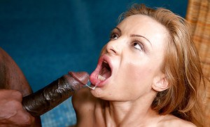 Lewd european cum-gazzler enjoys fervent interracial anal drilling