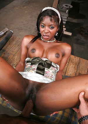 Ebony MILF enjoys white boner drilling her cunt and gets jizzed over her tits