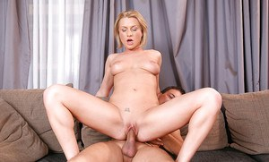 Voluptuous european mature slut gets anally crashed and tastes a cumshot