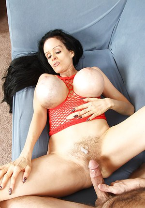 Mature slut with jaw-dropping big jugs gives head and gets shagged tough