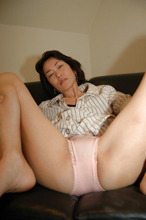 Skinny Asian Mom In Sexy White Stockings Showing Off Her Tig 8tube 1