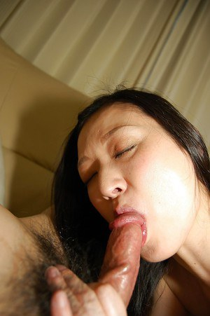 Lusty asian gal gives a passionate blowjob and gets her hairy gash slammed