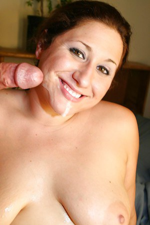 Fatty MILF gets her shaved cunt slammed and takes a cumshot on her face