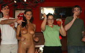 Salacious vixens have some dirty fun at the drunk groupsex party