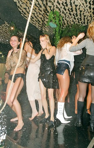 Ravishing MILFs going wild and dirty at the european groupsex party