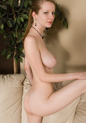 Slim amateur with big shapely melons and hairy gash stripping off her clothes