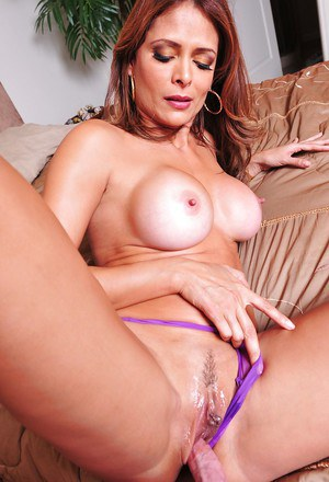 Gorgeous latina MILF gets shagged tough with her panties on