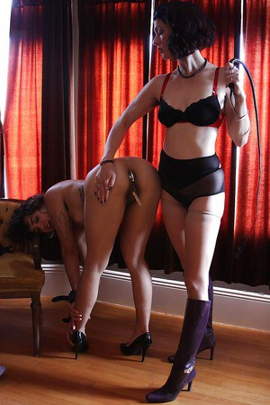 Hairy fetish sluts in high heels have a passionate BDSM lesbian sex