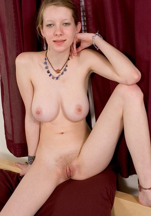 Slim amateur with amazing big tits undressing and exposing her slit